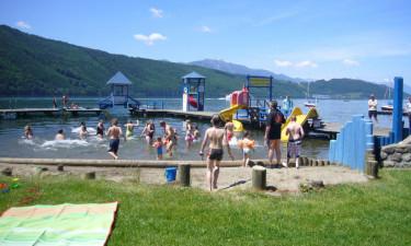 Masser af vandaktiviteter i søen