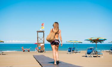 Brug hele dagen på den private strand