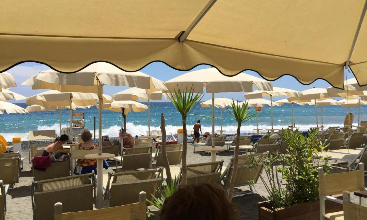 Stranden taettest paa Villa Beuca