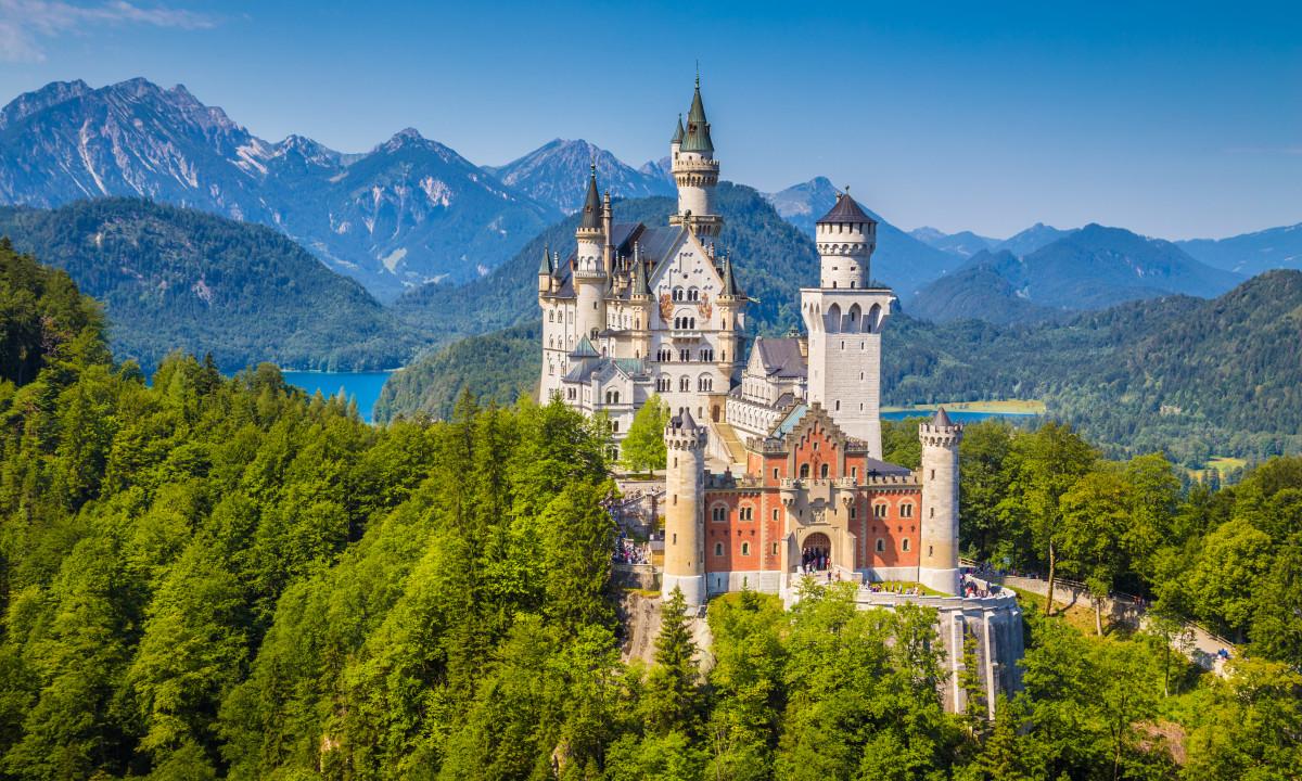 Schloss Neuschwanstein slot i Tyskland