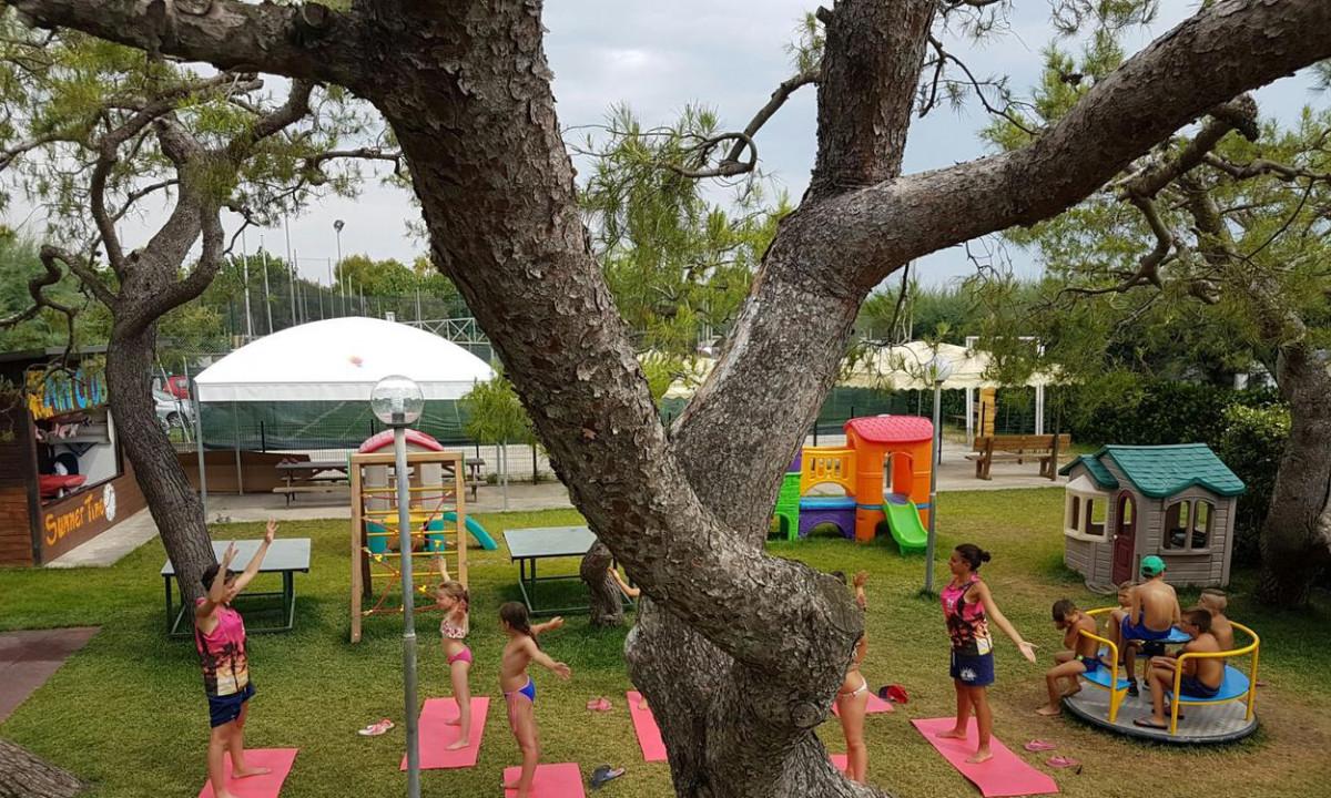 Gymnastik for boernene