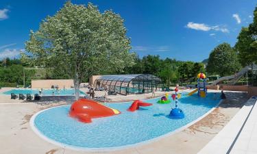 Pool på Ardéche Camping