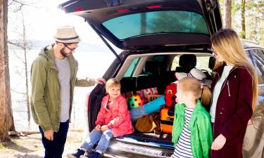 Familie på kør-selv ferie