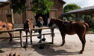 Hesteridning og cykellejning