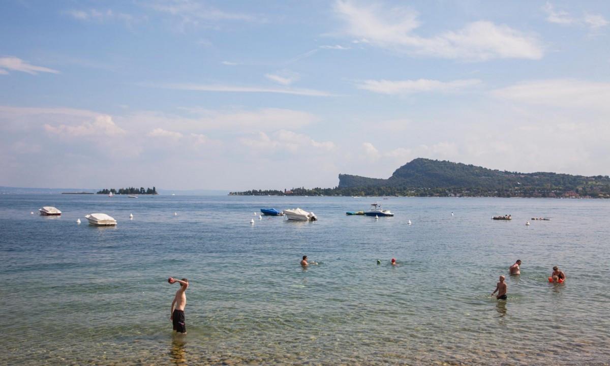 Gardasøen - Badning i søen